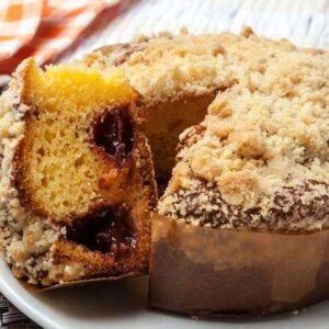 Receita Cake de Fubá com Goiabada Cremosa