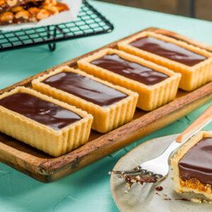 Receita de Tartelete de Amendoin Crocante e Chocolate